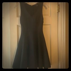 Fit and flare black dress